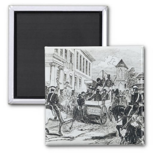 Arrival of the Government Conveyance 2 Inch Square Magnet