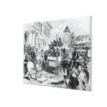 Arrival of the Government Conveyance Stretched Canvas Print