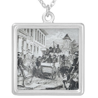 Arrival of the Government Conveyance Silver Plated Necklace