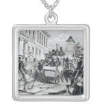 Arrival of the Government Conveyance Square Pendant Necklace
