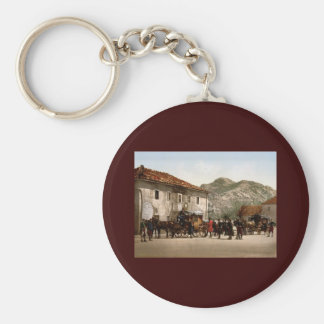 Arrival of the post Cetinje Montenegro Keychain