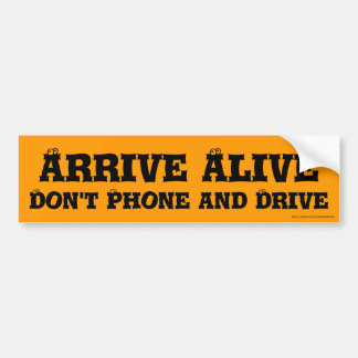 Arrive Alive Bumper Sticker