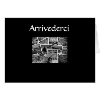 """ARRIVEDERCI, CIAO, BUON BIAGGIO"" ITALIAN STYLE GREETING CARD"