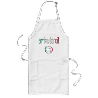 ¡Arrivederci Colores de la bandera de Italia Delantales