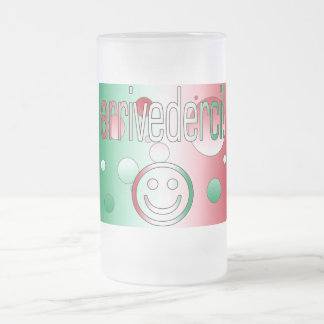 Arrivederci! Italy Flag Colors Pop Art Mugs