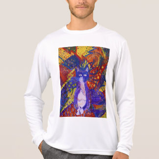 Arriving, Abstract Modern Cat Love Party Shirt