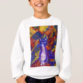 Arriving, Abstract Modern Cat Love Party Sweatshirt