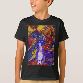 Arriving, Abstract Modern Cat Love Party T-Shirt