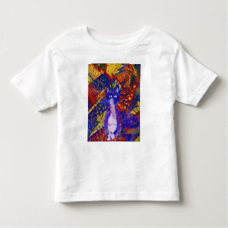 Arriving, Abstract Modern Cat Love Party Toddler T-shirt
