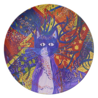 Arriving - Abstract Modern Love Party Melamine Plate