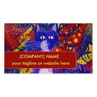 Arriving, Abstract Modern Love Party Tux Cat Business Card