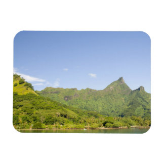 Arriving by ferry to Moorea, French Polynesia 2 Rectangle Magnets