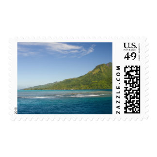 Arriving by ferry to Moorea, French Polynesia Postage