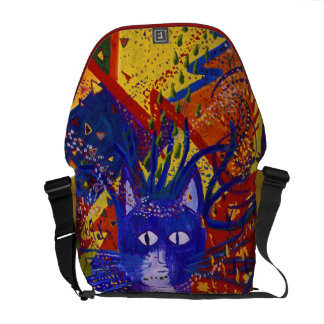 Arriving - Fun Party in Red, Yellow & Blue Courier Bag