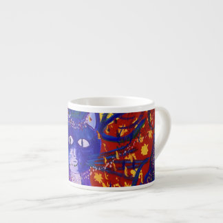Arriving - Fun Party in Red, Yellow & Blue Espresso Cup