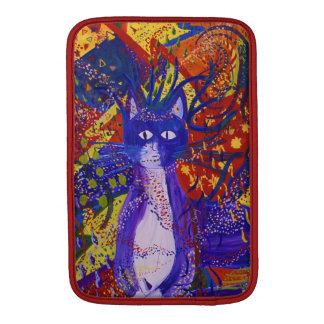Arriving - Fun Party in Red, Yellow & Blue Kitty MacBook Air Sleeve