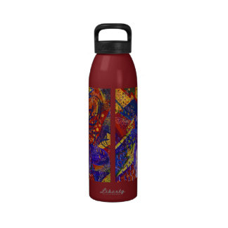 Arriving - Fun Party in Red, Yellow & Blue Drinking Bottles