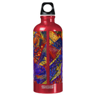 Arriving - Fun Party in Red, Yellow & Blue Water Bottle