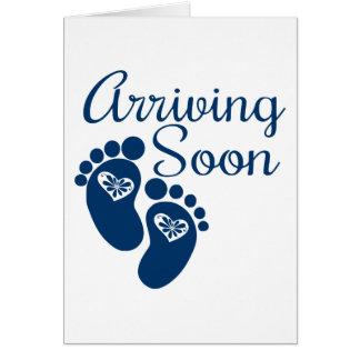 Arriving Soon Greeting Card