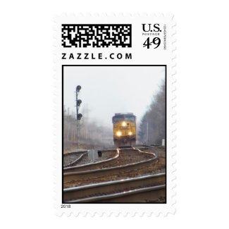 Arriving Train Postage