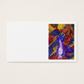 Arriving - Wild Party in Red, Yellow & Blue Business Card