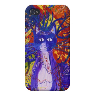 Arriving - Wild Party in Red, Yellow & Blue iPhone 4 Cover