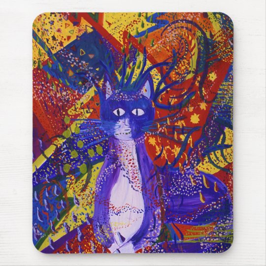 Arriving - Wild Party in Red, Yellow & Blue Mouse Pad