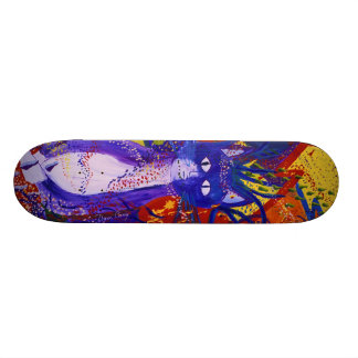 Arriving - Wild Party in Red, Yellow & Blue Skateboard