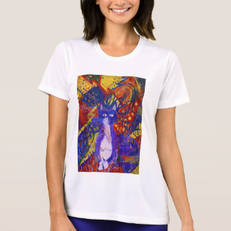 Arriving - Wild Party in Red, Yellow & Blue Tee Shirt