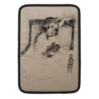 Arrodillamiento en una butaca de Mary Cassatt Funda Macbook Air