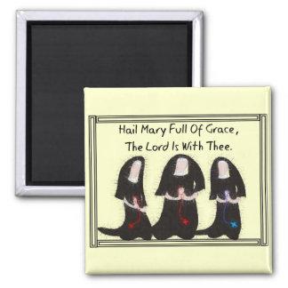 """Arrodillamiento """"saludo Maria de tres monjas por c Imán De Frigorífico"""
