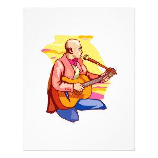 """arrodillamiento singing.png calvo del guitarrista folleto 8.5"""" x 11"""""""