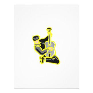 """arrodillamiento yellow.png abstracto del guitarris folleto 8.5"""" x 11"""""""