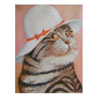 arrogant  cat post card