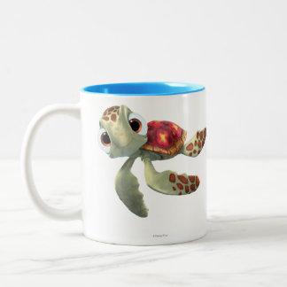 Arroje a chorros 3 taza de café de dos colores