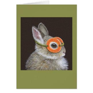 Arroje la tarjeta del conejito