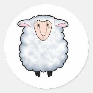 Arroje las ovejas pegatinas redondas