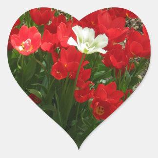 Arroje y retirándose calcomanía de corazón