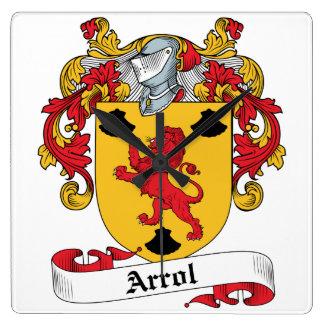 Arrol Family Crest Clocks