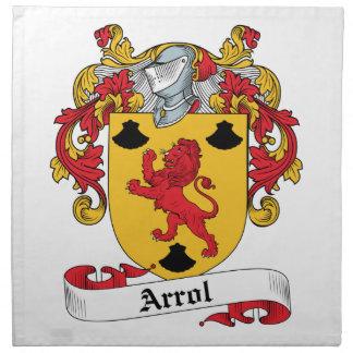 Arrol Family Crest Printed Napkins