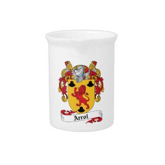 Arrol Family Crest Beverage Pitcher