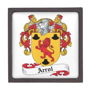 Arrol Family Crest Premium Trinket Box