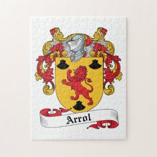 Arrol Family Crest Jigsaw Puzzle