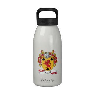 Arrol Family Crest Reusable Water Bottles