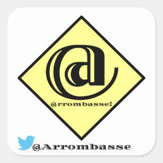 ArrombasseOficial Square Sticker