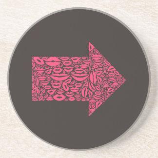Arrow a lip drink coaster