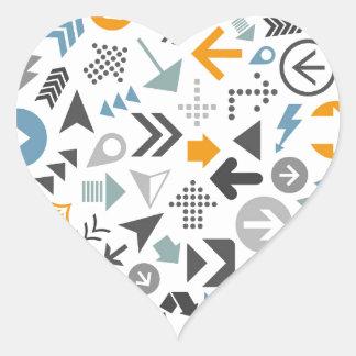 Arrow a sphere heart sticker