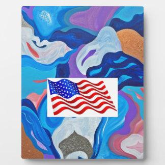 Arrow American Flag Plaque