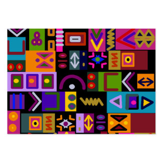 arrow and lines with shapes collage mosaic business card templates