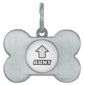 Arrow Aunt Pet Tag